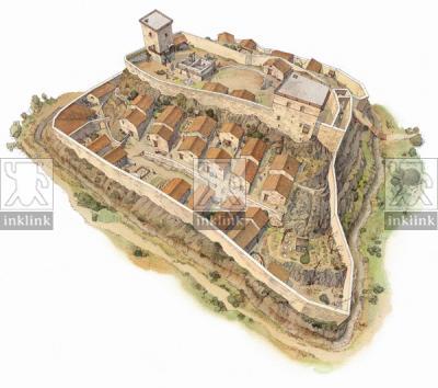 Villaggio di Montarrenti, XII-XIII secolo
