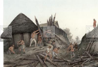 Il fossato e la palizzata di metà IX secolo