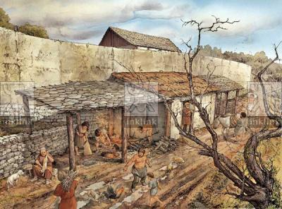 Magazzini destinati alla lavorazione e alla conservazione dei prodotti agricoli, X secolo