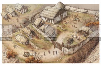 Il castello di Miranduolo nella fase curtense, X secolo