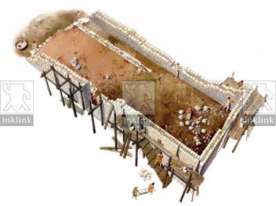La costruzione della chiesa di Monte di Croce