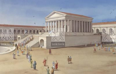 Il tempio nell'area sacra del Santuario di Ercole Vincitore