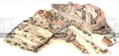 La Rocca di Selvena, prima metà del XIV secolo