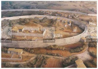L'insediamento messapico: le mura a protezione del palazzo arcaico, VI secolo a.C.