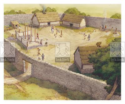 Il villaggio di Campiglia nell'XI secolo