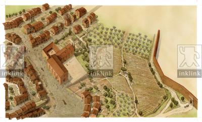 Pian dei Mantellini e Convento del Carmine a Siena, XIII - XIV secolo