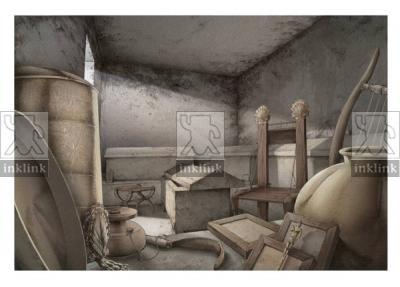 Interno della tomba 2 del Tumulo del Sodo