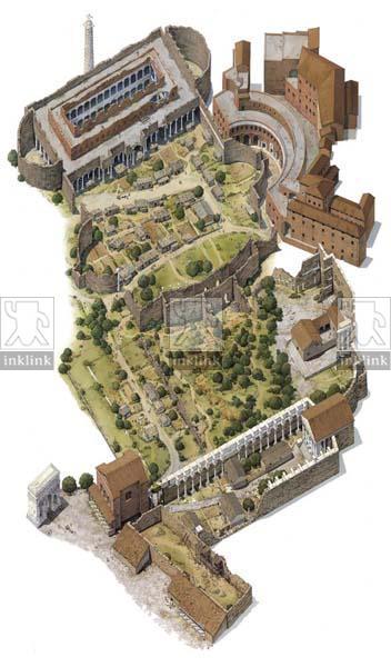 L'area dei Fori Imperiali in epoca medievale