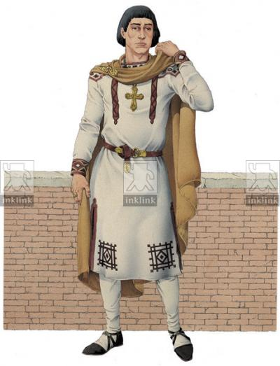 Abbigliamento romano maschile, VII secolo