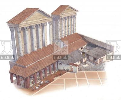 Diaconia di Sant'Angelo in Pescheria, addossato ai templi di Apollo Sosiano e Bellona