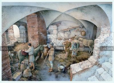 La stalla nel vecchio mitreo