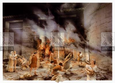 Incendio nell'area della Crypta Balbi, I secolo