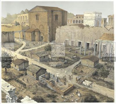 Foro di Cesare nel X secolo