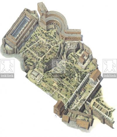 Area dei Fori Imperiali nel X secolo