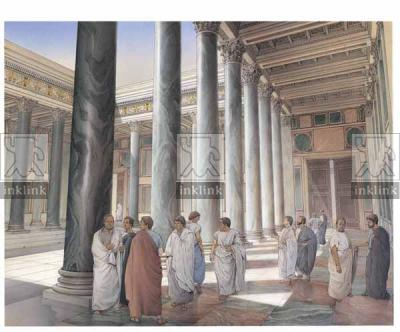 Foro di Traiano, corte porticata a ridosso del Foro di Augusto