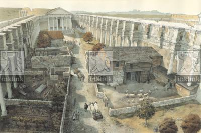 Foro di Nerva nel IX secolo