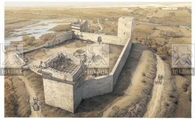 Costruzione del castello di Montelupo, 1204-1206