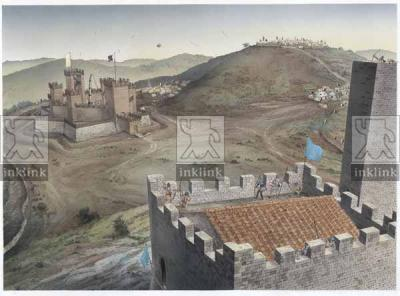 L'assedio di Montemassi, 1328 (veduta da Montemassi)