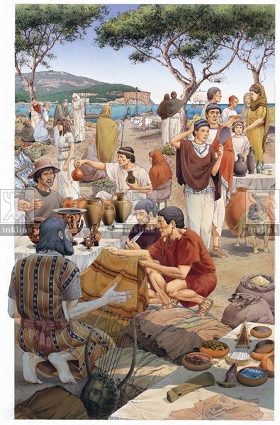 Il mercato nella città etrusca di Populonia