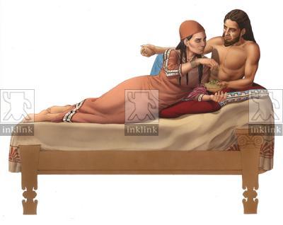 Il banchetto etrusco: l'aristocrazia