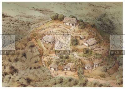 Il villaggio su Poggio Trifonti, prima metà del IX secolo