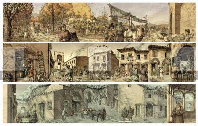Il calendario medievale: Ottobre, Montalcino; Novembre, Buonconvento; Dicembre, Siena