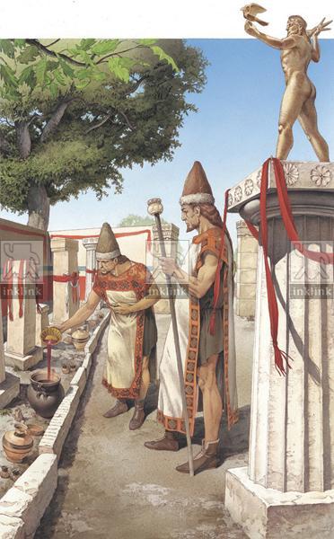 Libagione nel recinto di Zeus ad Ugento