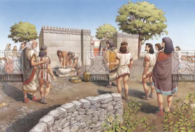Sacrificio davanti al recinto di Zeus ad Ugento