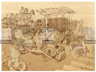 La produzione di carri, VI secolo a.C.