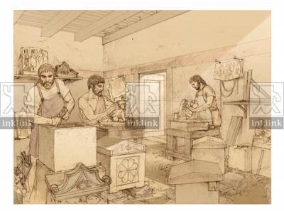 La produzione di urne, II secolo a.C.