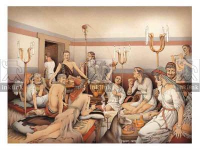 Il gioco del kottabos, IV secolo a.C.