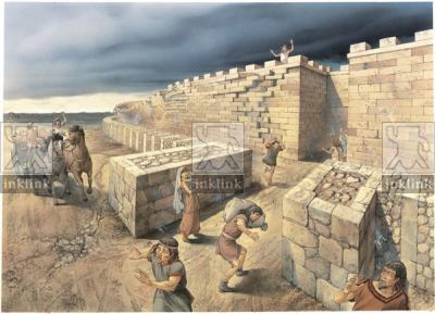 Il terremoto a Vaste: il crollo della cinta muraria, III secolo a.C.