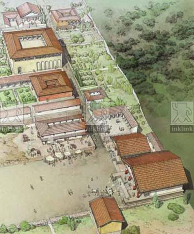 La città di Populonia vista dall'Acropoli, IV - III secolo a.C.