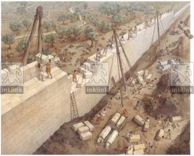 La costruzione delle mura messapiche