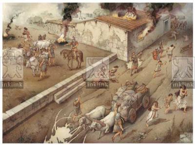 La conquista romana della città messapica, III secolo a.C.