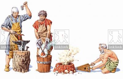 La lavorazione del ferro, XI - XIII secolo